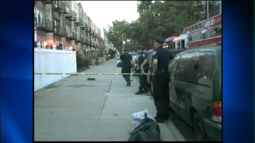 Photo of a partial building collapse in Brooklyn Monday, July 16, 2012 on Ovington Avenue, between 5th and 6th avenues in the Bay Ridge section.