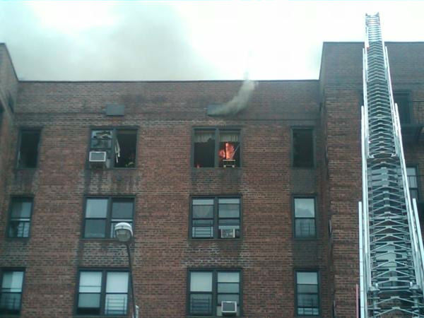 More than 200 firefighters battled a raging fire at a 7-story apartment building in Flatbush, Brooklyn. (FDNY Photo)