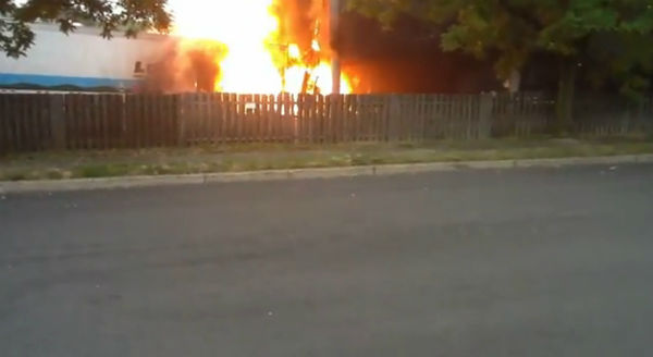 "<div class=""meta image-caption""><div class=""origin-logo origin-image ""><span></span></div><span class=""caption-text"">One person was killed when a truck went out of control, crashed into a building and burst into flames along Route 17 in Hasbrouck Heights, New Jersey.  Images from an Eyewitness News viewer video.</span></div>"