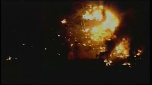 A series of explosions rocked a central Florida propane gas plant late Monday night, leaving at least three people critically injured.