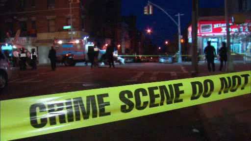 Police investigate a shooting that left a suspect dead in the Bronx.  Officials say the suspect had pointed a gun at 2 officers.