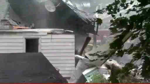 "<div class=""meta ""><span class=""caption-text "">A small plane crashed into two homes in East Haven, Connecticut on Friday August 9, 2013.</span></div>"