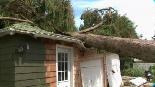 Storm damage in Manahawkin, New Jersey.