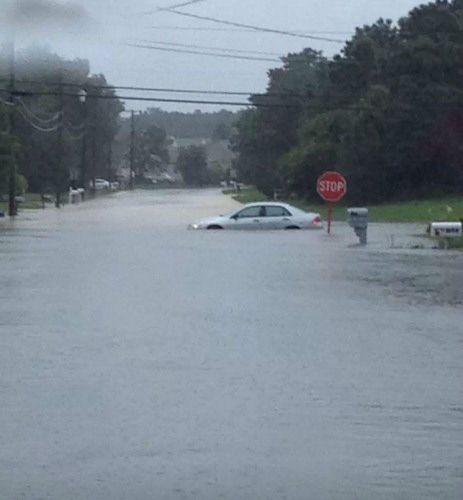 Flooding in Ocean Acres,  Stafford Twp, NJ (Kate Krier)