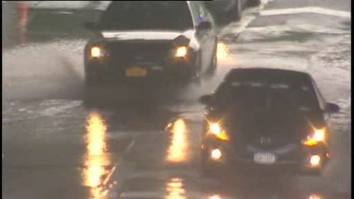 A Wednesday storm caused flooding in parts of New York.