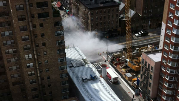 "<div class=""meta ""><span class=""caption-text "">Contractors building a tunnel for the Second Avenue subway used too much explosive for a planned blast at East 72nd Street and Second Avenue, shattering windows and sending dust billowing into the air on Tuesday. (Photo by Michel Meunier)</span></div>"