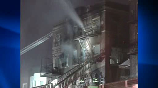 "<div class=""meta ""><span class=""caption-text "">Eight firefighters suffered injuries battling a four alarm apartment fire in Crown Heights, Brooklyn early Labor Day morning.</span></div>"