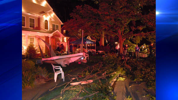 "<div class=""meta ""><span class=""caption-text "">Four people were hurt Saturday night when a tree limb fell at a block party in New Hyde Park, Long Island.   Photo courtesy  Geoffrey Walter, New Hyde Park Patch</span></div>"