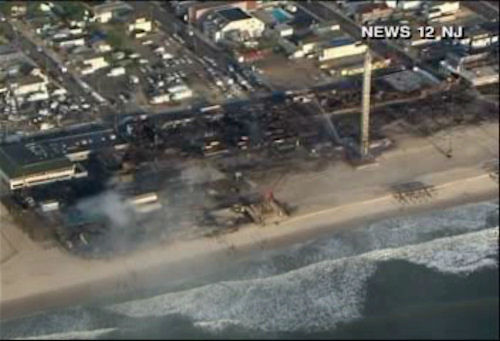 "<div class=""meta ""><span class=""caption-text "">Aerial photos on the morning after the devastating fire along the boardwalk at Seaside Park, New Jersey.   (Photo/News 12)</span></div>"