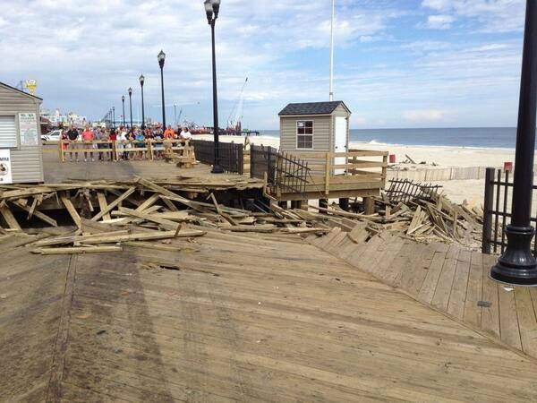 The trench cut in the new boardwalk that stopped the fire. (Phil Lipof)