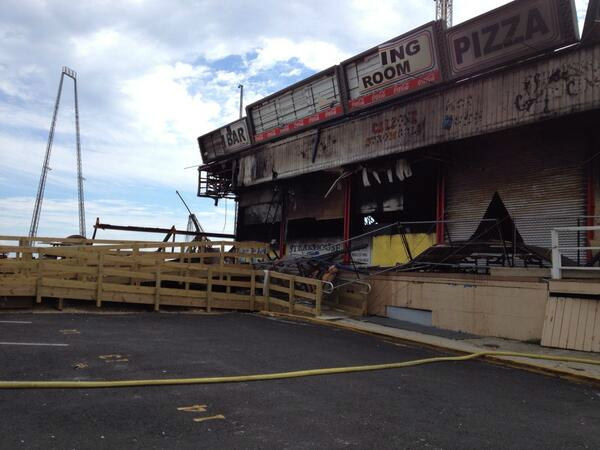 Fire damage along the boardwalk in Seaside Park. (Phil Lipof)