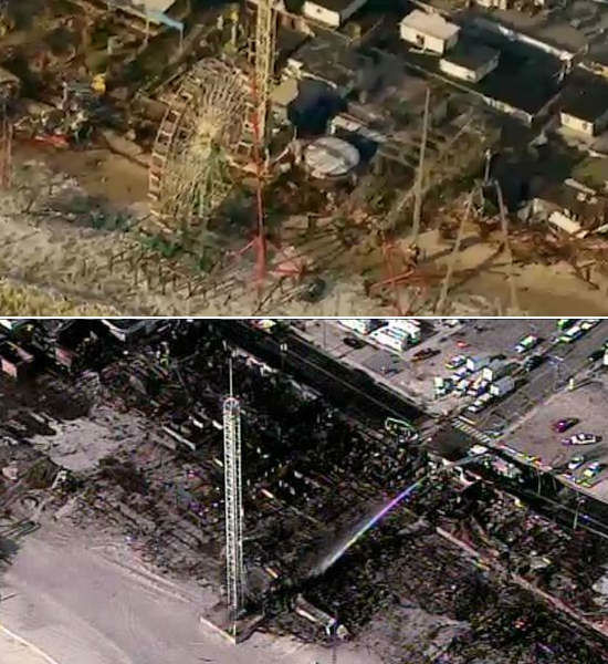 "<div class=""meta ""><span class=""caption-text "">NewsCopter 7 images of Seaside Park after Hurricane Sandy on October 31, 2012 (above) and after the boardwalk fire on September 13, 2013 (below),</span></div>"