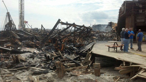 Photos of the aftermath of Thursday's fire along the Seaside Park boardwalk.