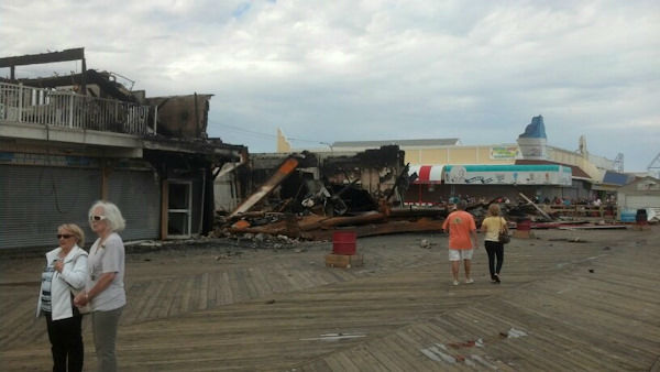 "<div class=""meta ""><span class=""caption-text "">Photos of the aftermath of Thursday's fire along the Seaside Park boardwalk. </span></div>"