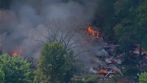 NewsCopter 7 over the scene of a house explosion in Stamford, Connecticut on Tuesday, Sept. 17, 2013. <span class=meta>(WABC Photo&#47; NewsCopter 7)</span>