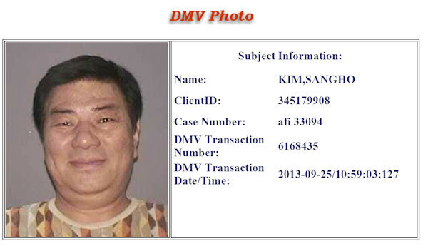 DMV photo of Sang Ho Kim, 63.   Police searched for Kim after a shooting behind a business in Garden City that left one dead and another seriously wounded.