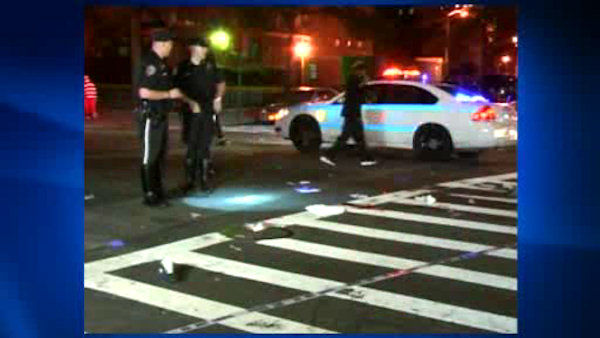 The man was struck and critically injured Saturday night while crossing 104th Street. <span class=meta>(WABC Photo)</span>