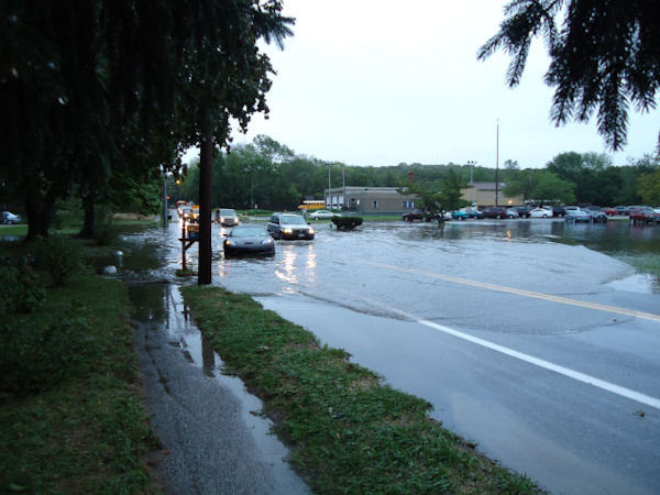 Flooding in Huntington, NY submitted by Dave Wilmer
