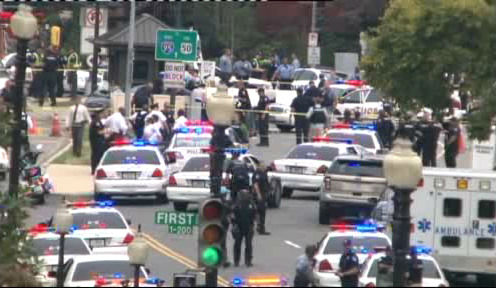 Photos from Capitol Hill following reports of gunshots near the Capitol.