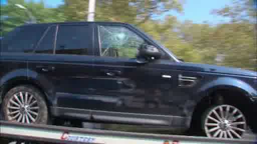 New photos of the SUV involved in a confrontation with a group of bikers on Sunday, September 29 in Manhattan.