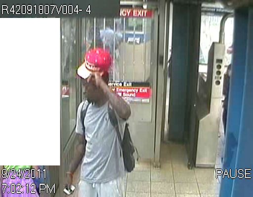 "<div class=""meta ""><span class=""caption-text "">Police are searching for five suspects in a series of robberies at the Broadway-Lafayette subway station in Manhattan. Surveillance images show four of five suspects, all believed to be in their late teens or early 20s. Police say the thieves robbed 10 people between August 15th and last Saturday. One time they used box cutters. Another time, the suspects flashed a gun. The NYPD says the fifth suspect is a 18-to-20-year-old woman.</span></div>"