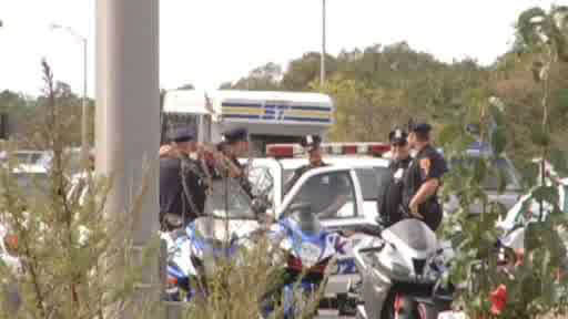 Suffolk police arrested seven bikers for allegedly driving recklessly on the eastbound Long Island Expressway.