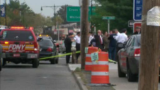 Photos from the scene where a Nassau County police officer and an innocent bystander were fatally shot along the Cross Island Parkway.  <span class=meta>(WABC Photo)</span>