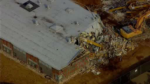 NewsCopter 7 over Sandy Hook Elementary School in Newtown, Connecticut as the school was demolished following last year&#39;s deadly shooting in which 26 students and teachers were murdered. <span class=meta>(WABC Photo&#47; NewsCopter 7)</span>