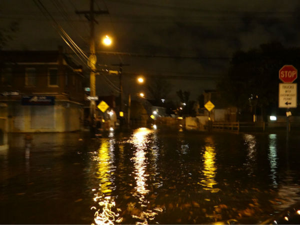 Howard Beach on Sunday night (from an Eyewitness News viewer)