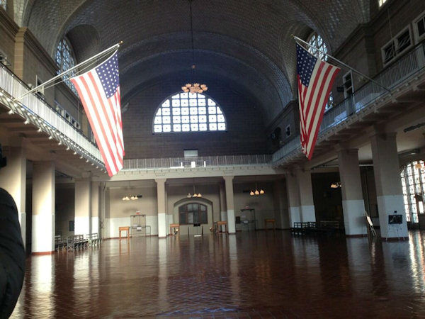 Photos from Ellis Island reopening on October 28, 2013.    The island had been closed to visitors since Superstorm Sandy. <span class=meta>(WABC Photo&#47; Michelle Charlesworth)</span>