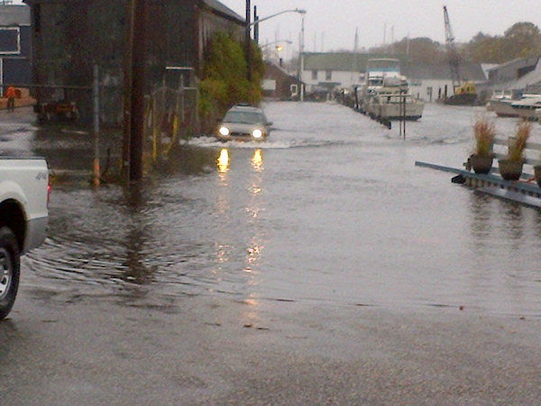 Car flooded in Islip from Kristin Thorne.