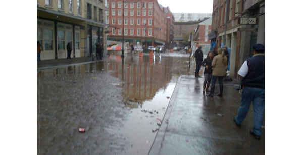 Photo taken at the South Street Seaport the day after Hurricane Sandy. <span class=meta>(Jeffery W. Schneider)</span>