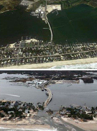 Before and after photos from Mantoloking, N.J.