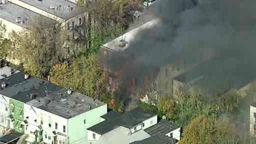 "<div class=""meta ""><span class=""caption-text "">One elderly man was killed and four firefighters were injured in a 2 alarm blaze in Jersey City, New Jersey</span></div>"