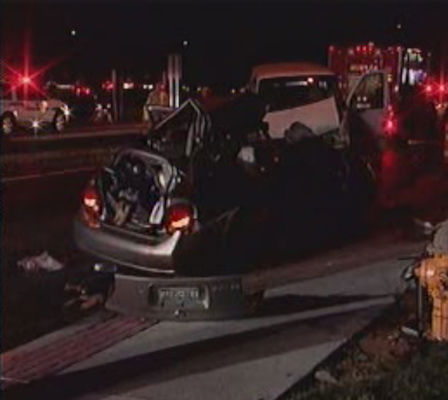 Two people are dead following a head-on accident in Centerreach, Suffolk County on Thursday, November 11, 2010,