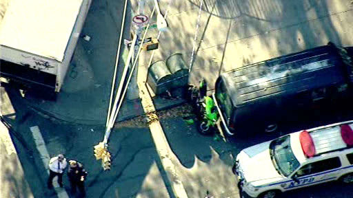 NewsCopter 7 over the scene of an accident that injured 5 in East Harlem. <span class=meta>(Photo&#47;NewsCopter 7)</span>