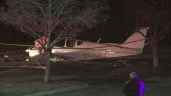 "<div class=""meta image-caption""><div class=""origin-logo origin-image ""><span></span></div><span class=""caption-text"">A pilot crash-landed a small plane early Saturday in a Rye Brook parking lot near Westchester County Airport.</span></div>"