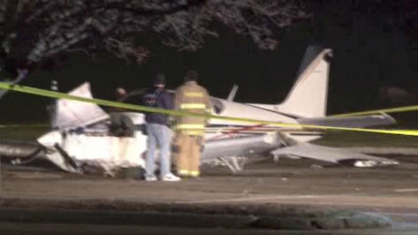 "<div class=""meta image-caption""><div class=""origin-logo origin-image ""><span></span></div><span class=""caption-text"">A pilot crash-landed a small plane early Saturday in a Rye Brook parking lot near Westchester County Airport. </span></div>"