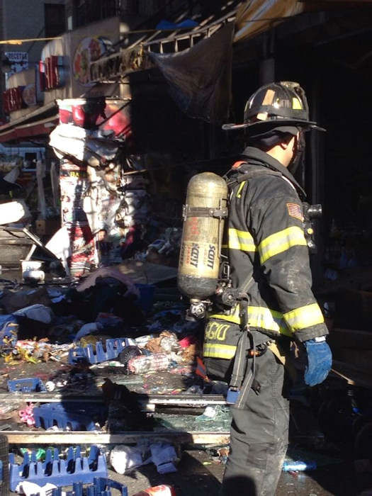 Photo from the scene of a 4-alarm fire in Washington Heights on Monday, November 18, 2013. <span class=meta>(WABC Photo&#47; Sandra Bookman)</span>