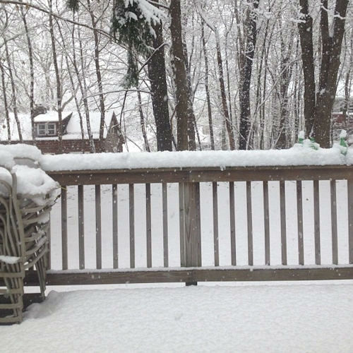 Snow in Stockholm, New Jersey on November 27, 2012 from an Eyewitness News viewer.