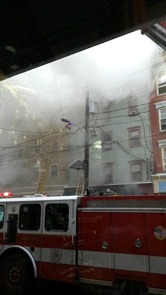 Photos from the scene of a multi-alarm fire in Jersey City, New Jersey on Wednesday, November 27, 2013. <span class=meta>(Photo&#47;Nicole Cifuentes)</span>
