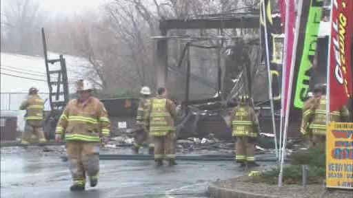 A Welsh Farms store was destroyed in an early morning fire in Franklin Township, New Jersey.
