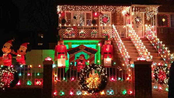 A decorated home in Throgs Neck, New York