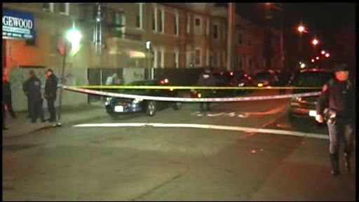 Photos from the scene where an officer was shot in the face while responding to a robbery in Brooklyn on Monday, December 12, 2011.