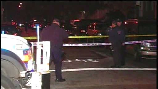 "<div class=""meta ""><span class=""caption-text "">Photos from the scene where an officer was shot in the face while responding to a robbery in Brooklyn on Monday, December 12, 2011. </span></div>"