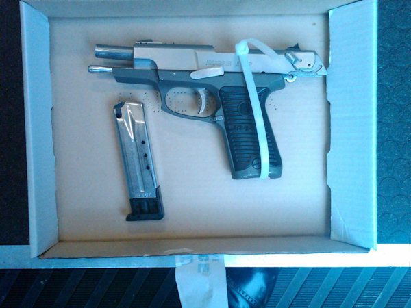 Photo of the illegal firearm allegedly used to shoot Officer Figoski.