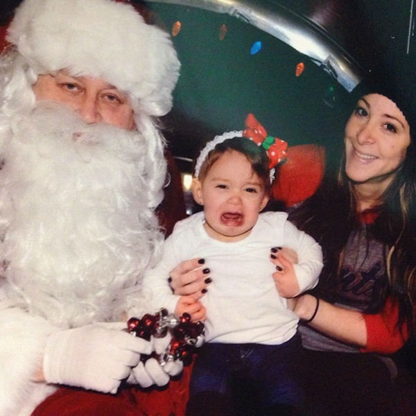 Ella  did not have a happy visit with Santa in Lincoln Park, New Jersey.