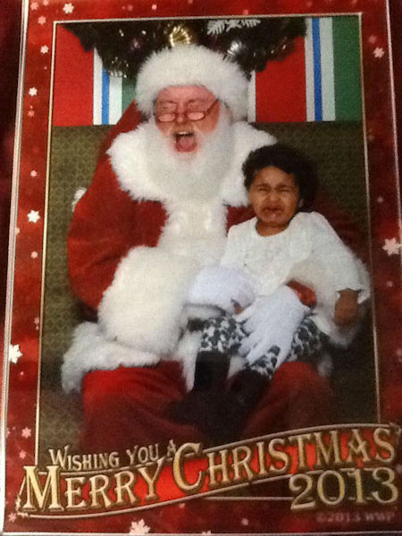 Jade was not happy to see Santa.