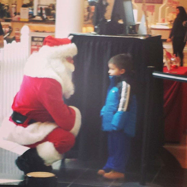 This guy did not want to sit on Santa's lap.