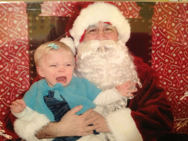Penelope was not a fan of Santa in West Hempstead, NY